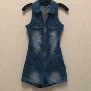 Jean body suit